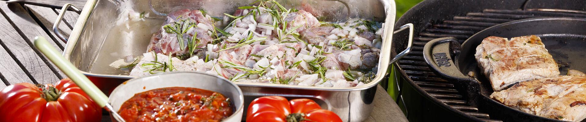 Travers de porc au barbecue marinés au vin blanc