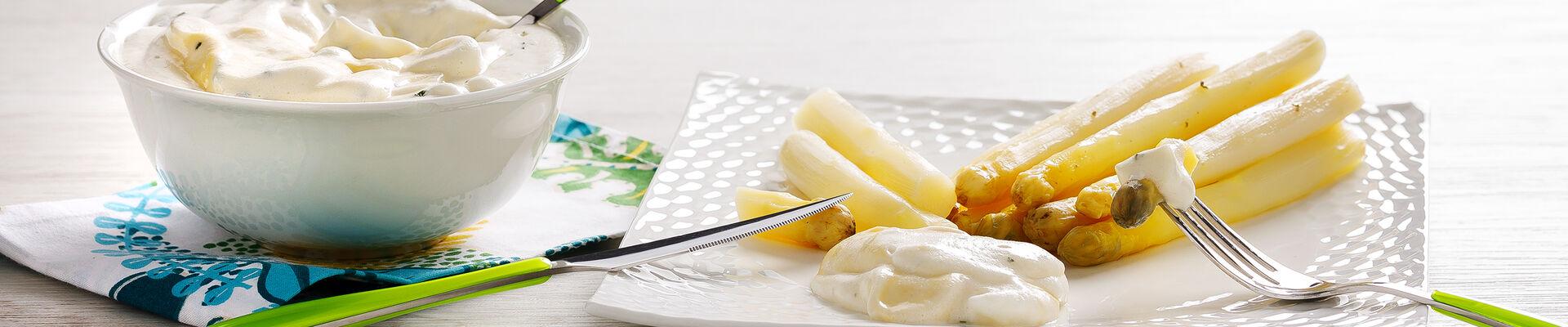 Asperge mayonnaise mousseline
