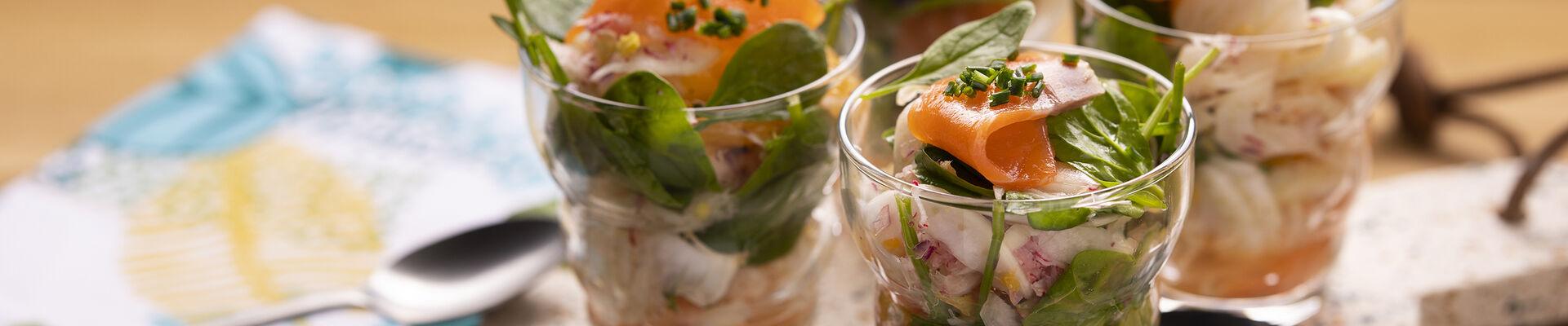 Émincé de fenouil, agrumes et saumon fumé