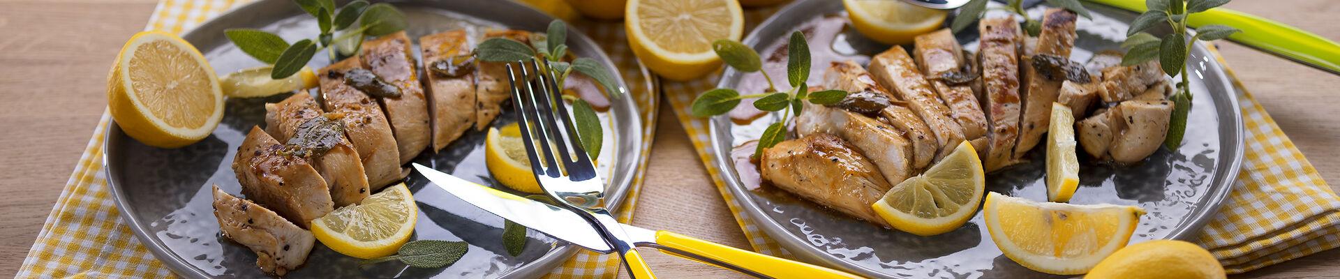 Blancs de poulet à la sauge et au citron