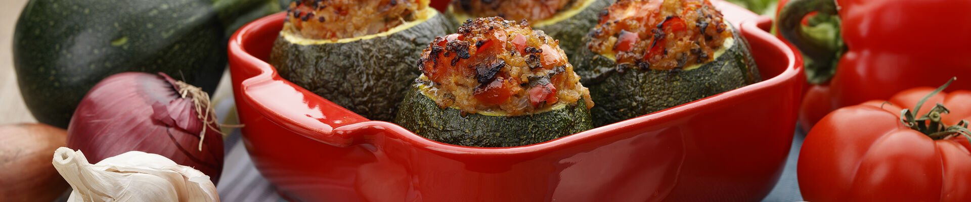 Courgettes farcies au quinoa