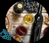 Visuel de bouteille et verres de vins